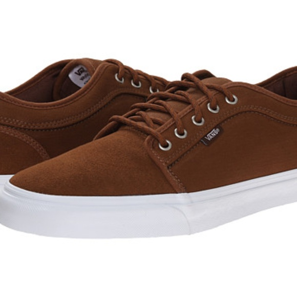 Mens Shoes Vans Chukka Low (Herringbone Twill) Tobacco
